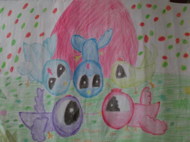 快乐的小鸟儿童简笔画 快乐的小鸟儿童图片欣赏 快乐的小鸟儿童儿童画画作品