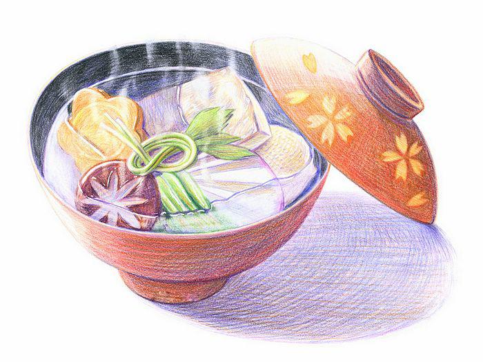 儿童画画 铅笔画 美味的食物儿童画画