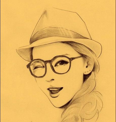 铅笔画之美丽的少女 -美丽的少女简笔画 美丽的少女图片欣赏 美丽的少