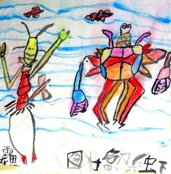 水粉画-虾兵蟹将来了