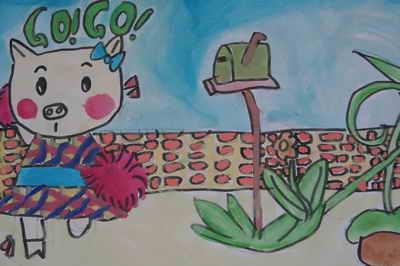 儿童画画 水粉画 可爱的小动物儿童画画