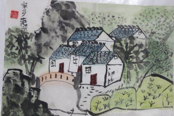 家乡芜湖简笔画 家乡芜湖图片欣赏 家乡芜湖儿童画画作品