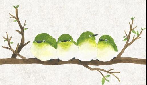 树上的小鸟_儿童画简笔画_树上的小鸟_儿童画图片欣赏图片
