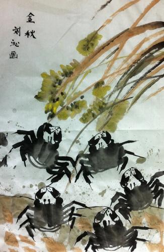 金秋简笔画_金秋图片欣赏_金秋儿童画画作品-有伴网