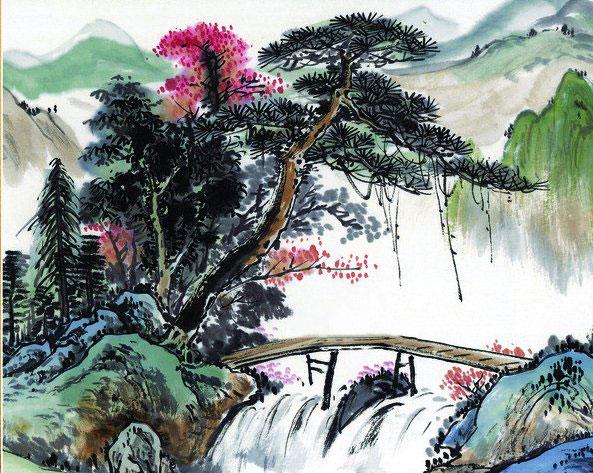 高山雪松简笔画_高山雪松图片欣赏_高山雪松儿童画画