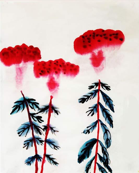 鸡冠花简笔画 鸡冠花图片欣赏 鸡冠花儿童画画作品
