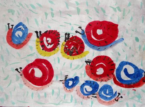蜗牛赛跑简笔画_蜗牛赛跑图片欣赏_蜗牛赛跑儿童画画