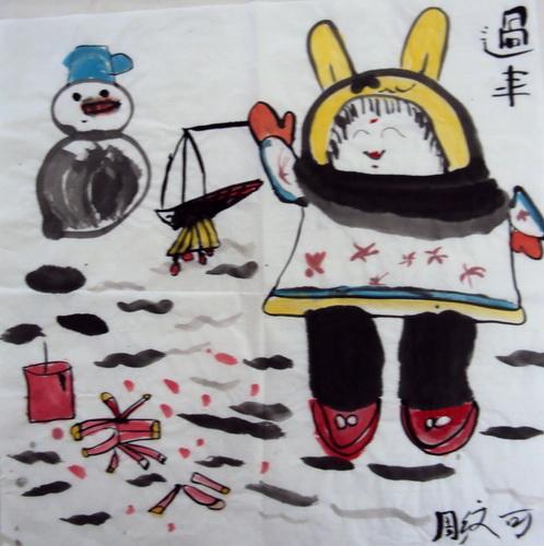 过年简笔画_过年图片欣赏_过年儿童画画作品-有伴网