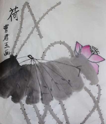 荷简笔画 荷图片欣赏 荷儿童画画作品