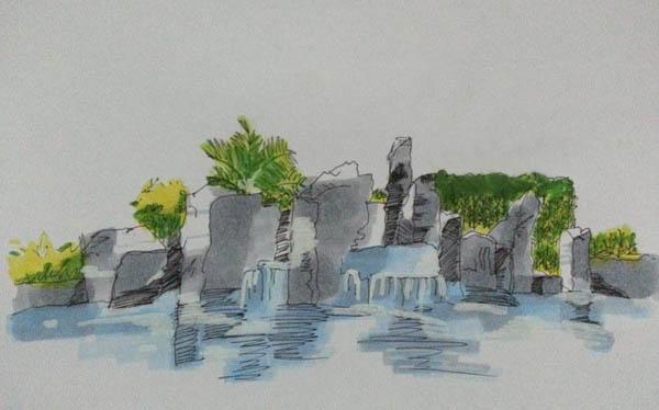 海中小岛简笔画_海中小岛图片欣赏