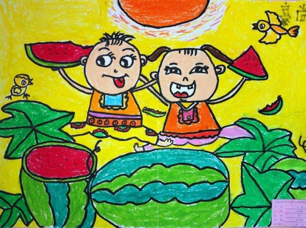 夏天简笔画 夏天图片欣赏 夏天儿童画画作品