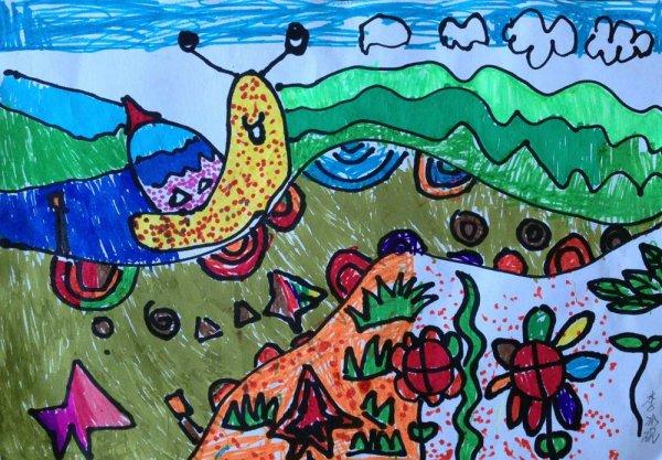 爬山比赛简笔画 爬山比赛图片欣赏 爬山比赛儿童画画作品