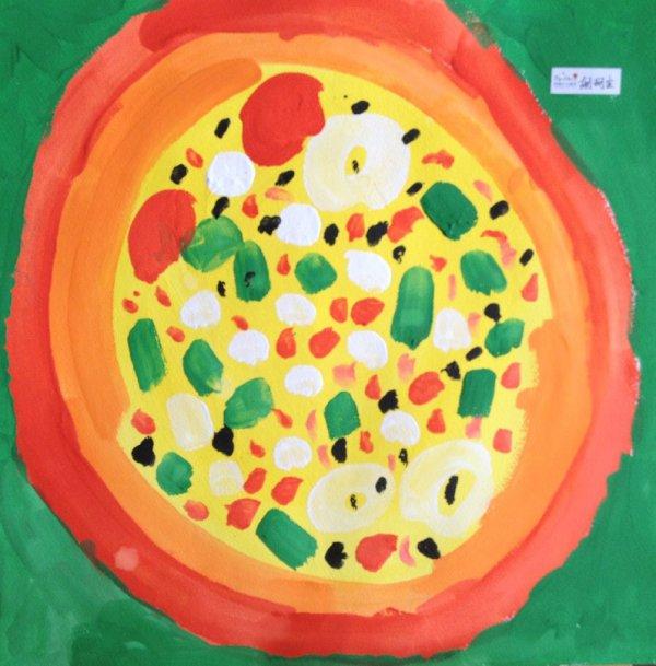 美味的披萨简笔画 美味的披萨图片欣赏 美味的披萨儿童画画作品
