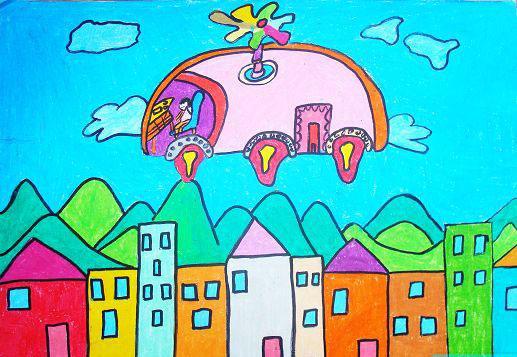 未来的世界简笔画 未来的世界图片欣赏 未来的世界儿童画画作品