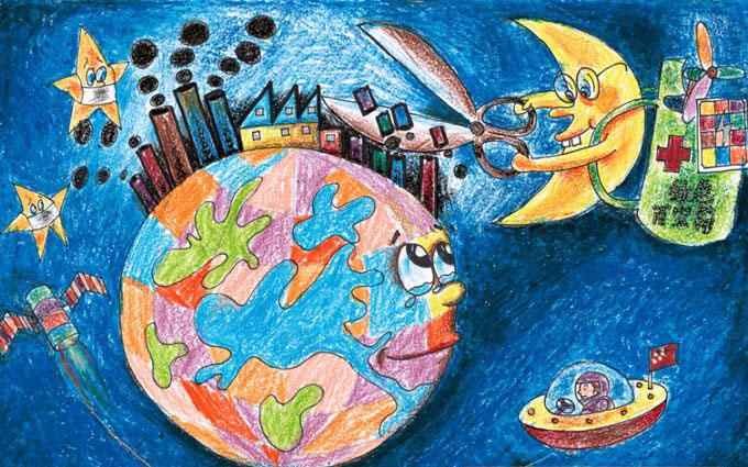 地球仪儿童简笔画 地球仪怎么画