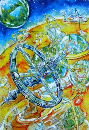 科幻星球简笔画_科幻星球图片欣赏_科幻星球儿童画画