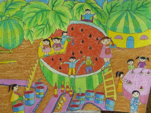 未来学校简笔画 未来学校图片欣赏 未来学校儿童画画