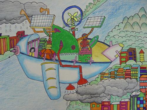 环保小卫士简笔画 环保小卫士图片欣赏 环保小卫士儿童画画作品