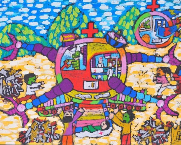 医疗机器人简笔画 医疗机器人图片欣赏 医疗机器人儿童画画作品