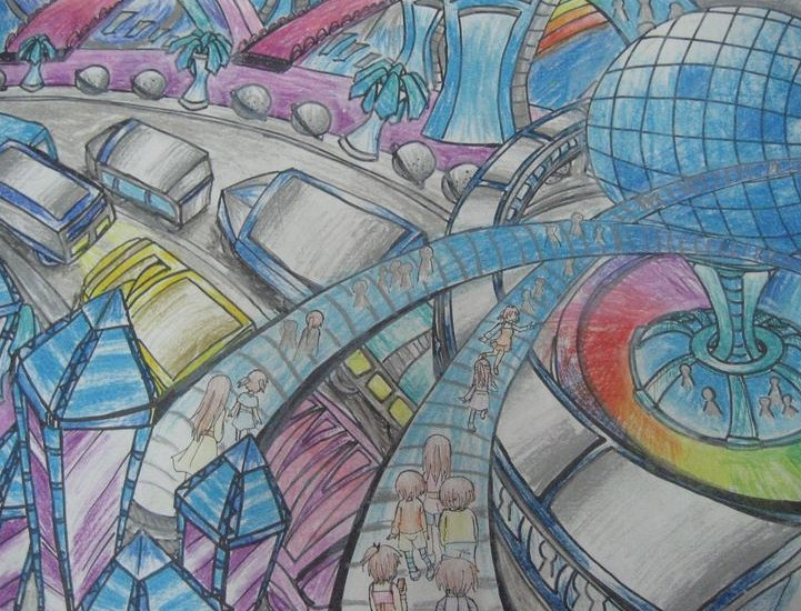 未来的城市简笔画_未来的城市图片欣赏_未来的城市-有
