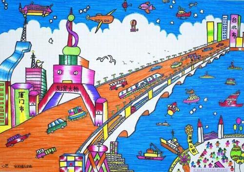 友谊大桥简笔画 友谊大桥图片欣赏 友谊大桥儿童画画作品