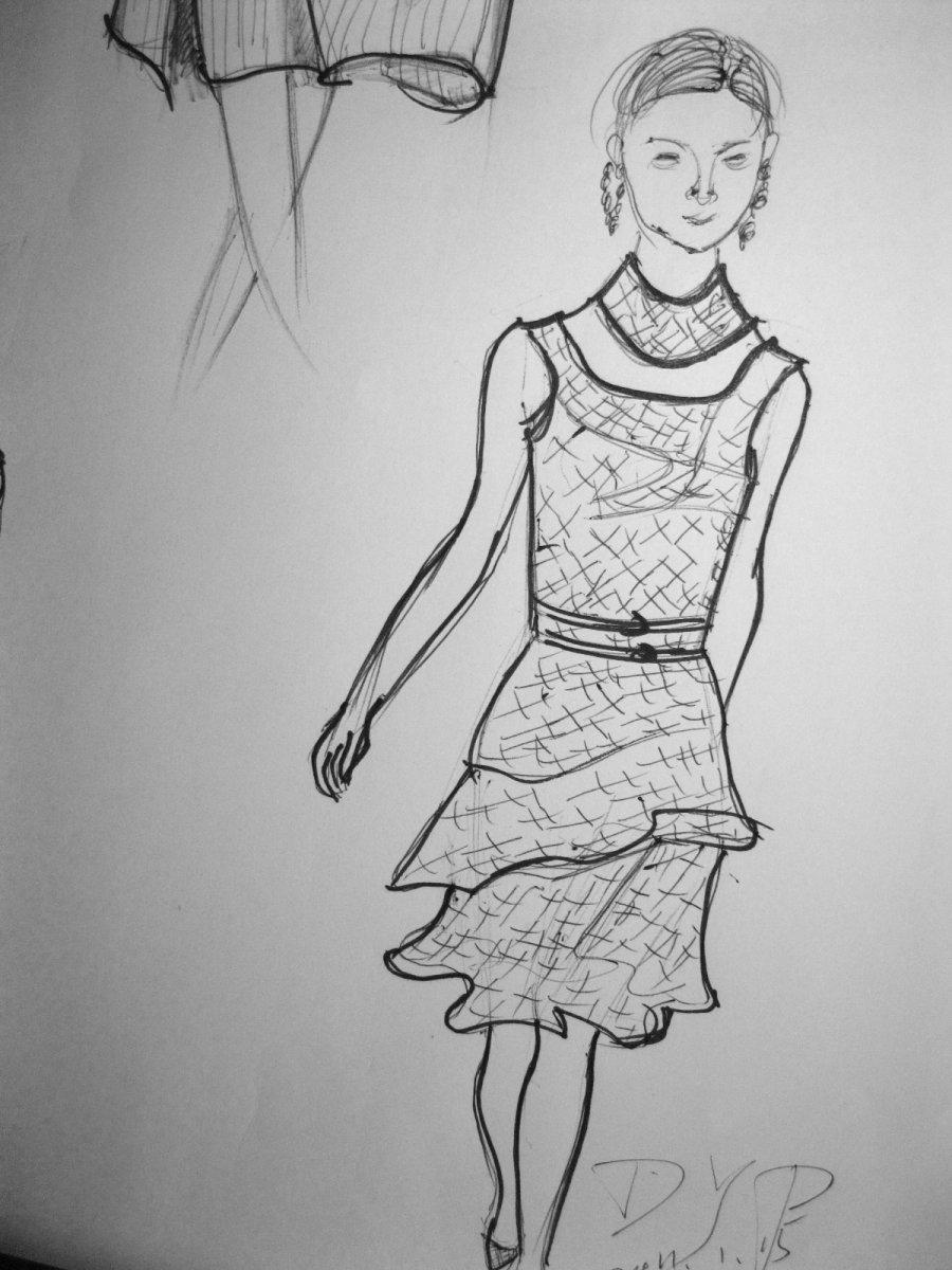 服装速写简笔画_服装速写图片欣赏_服装速写儿童画画
