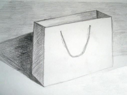 纸袋速写简笔画_纸袋速写图片欣赏_纸袋速写儿童画画