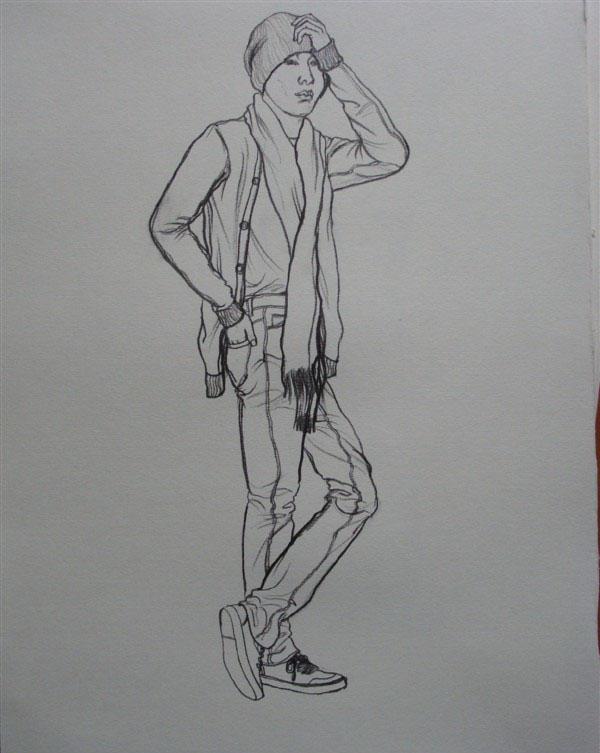 时髦男孩简笔画_时髦男孩图片欣赏_时髦男孩儿童画画